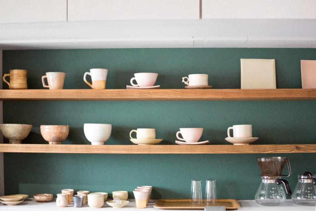 cafe&pottery音店内